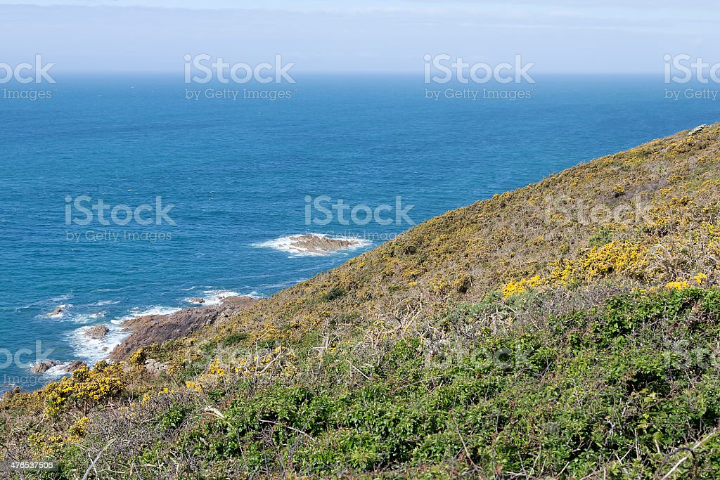 Slope into the ocean royalty-free stock photo