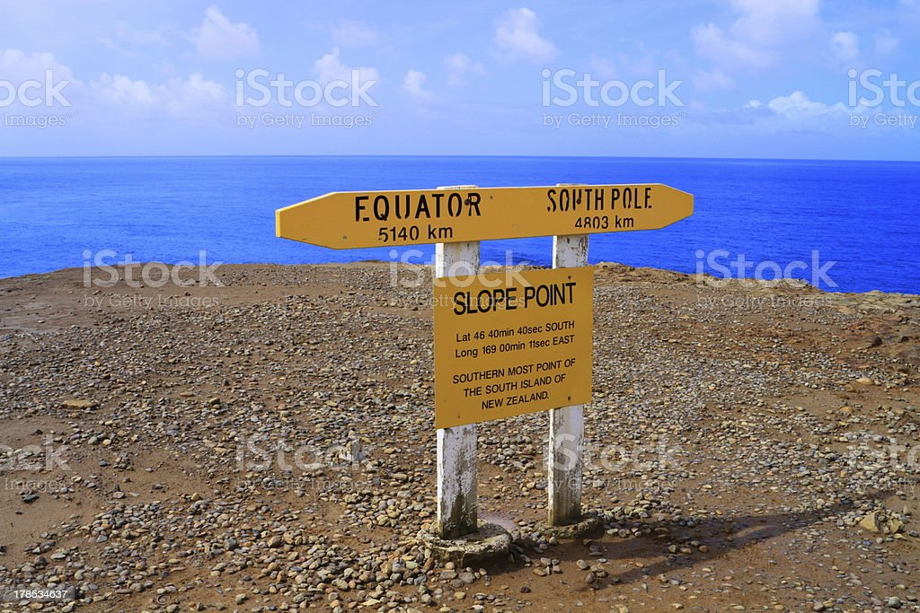 Slope Point royalty-free stock photo