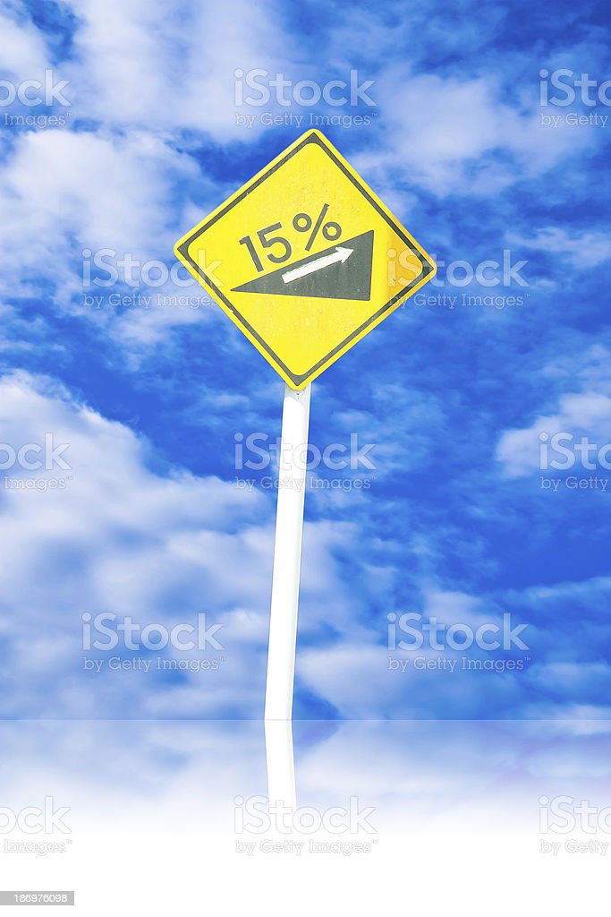 slope sign royalty-free stock photo