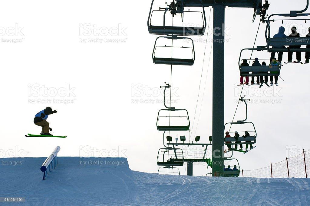 Slope Style Skier stock photo