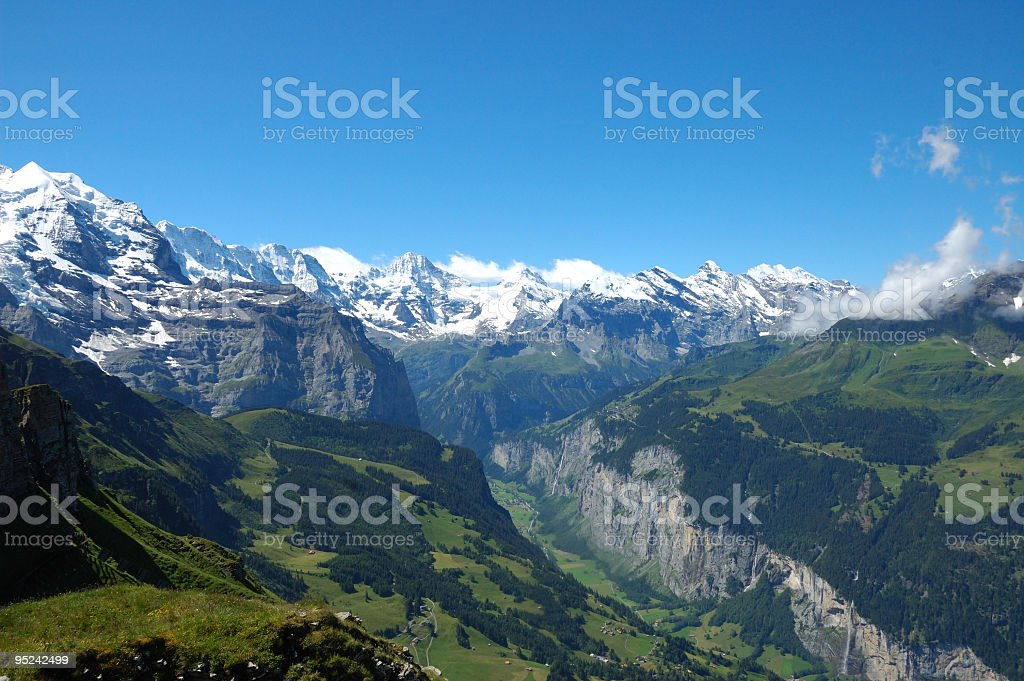 Slopes of the Jungfrau royalty-free stock photo