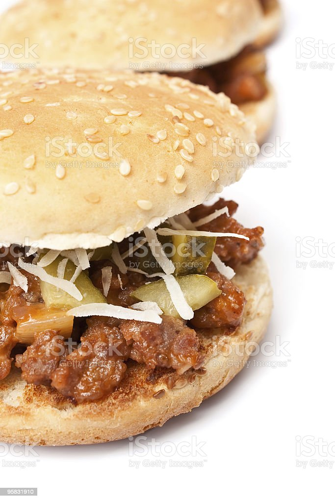Sloppy Joe tasty sandwiches royalty-free stock photo
