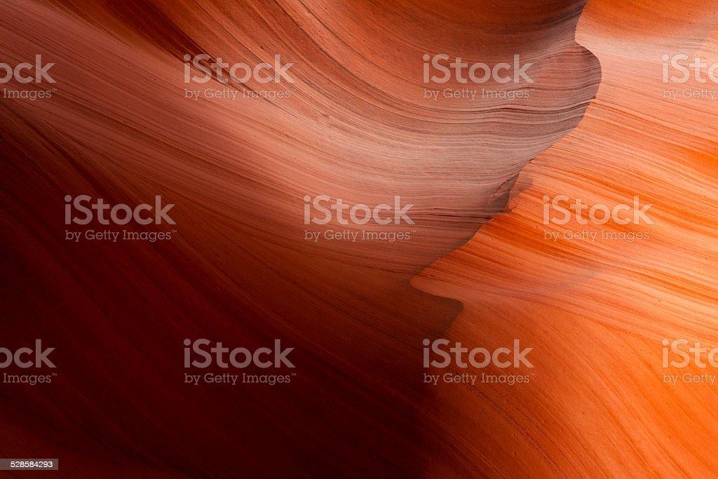 Slot canyon next to Page stock photo