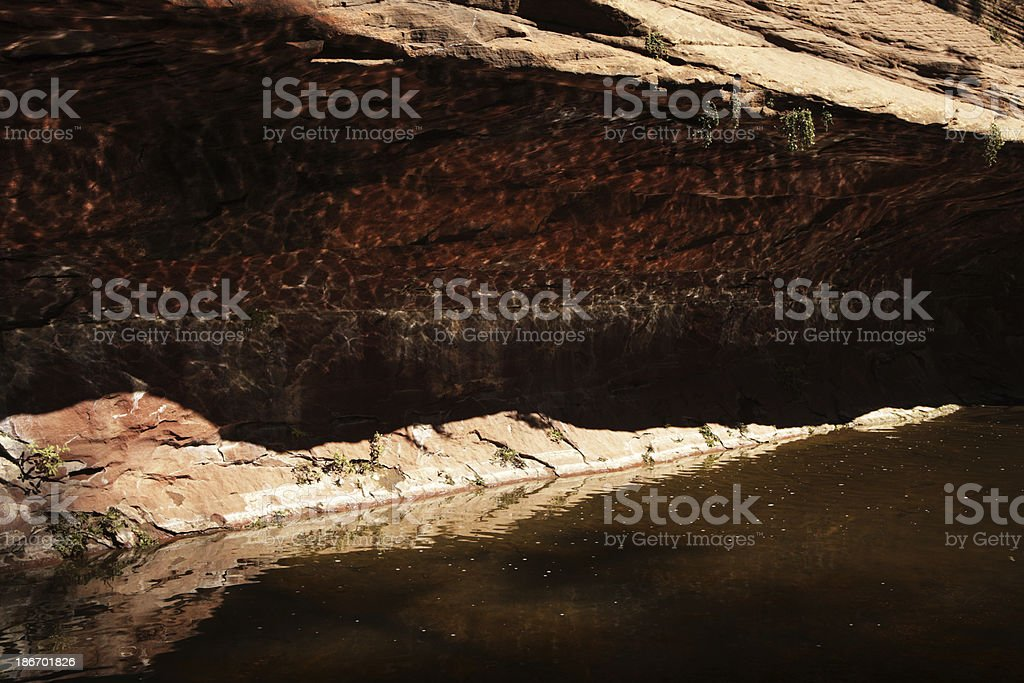 Slot Canyon Red Rock Stream Cave Light royalty-free stock photo