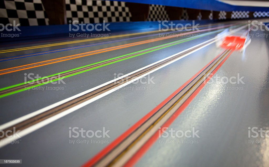Slot Car Racing royalty-free stock photo
