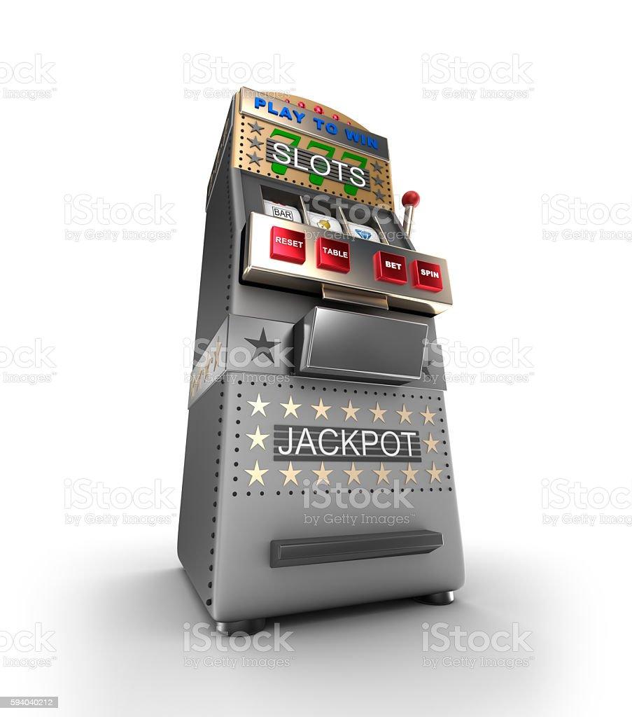 slot machine, gamble machine. 3D illustration stock photo