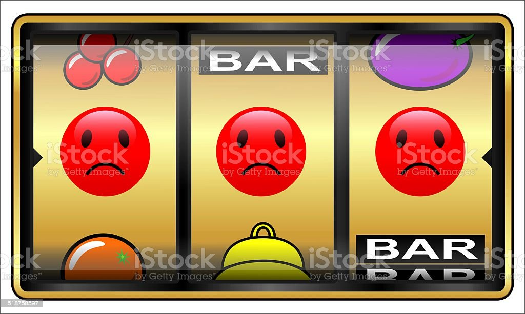 Slot machine, gambling, loser stock photo