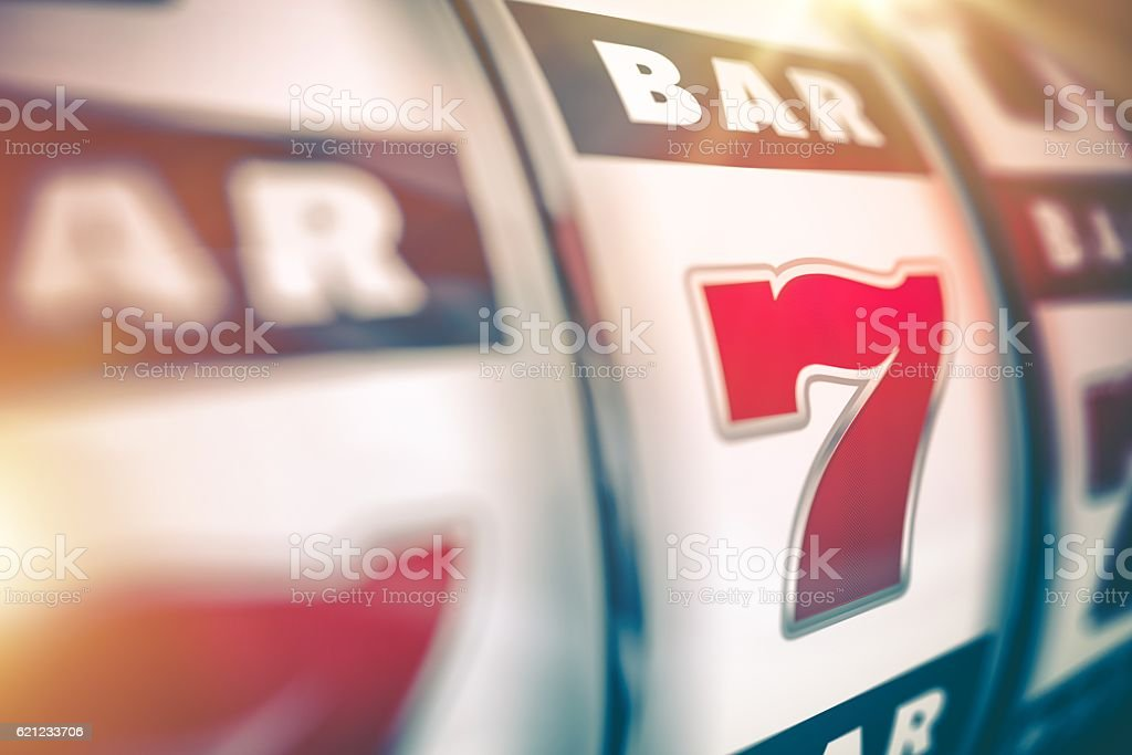 Slot Machine Lucky Game stock photo