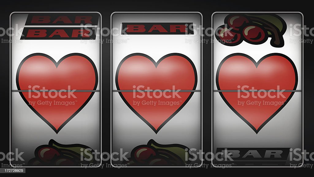 Slot Machine Of Love royalty-free stock photo