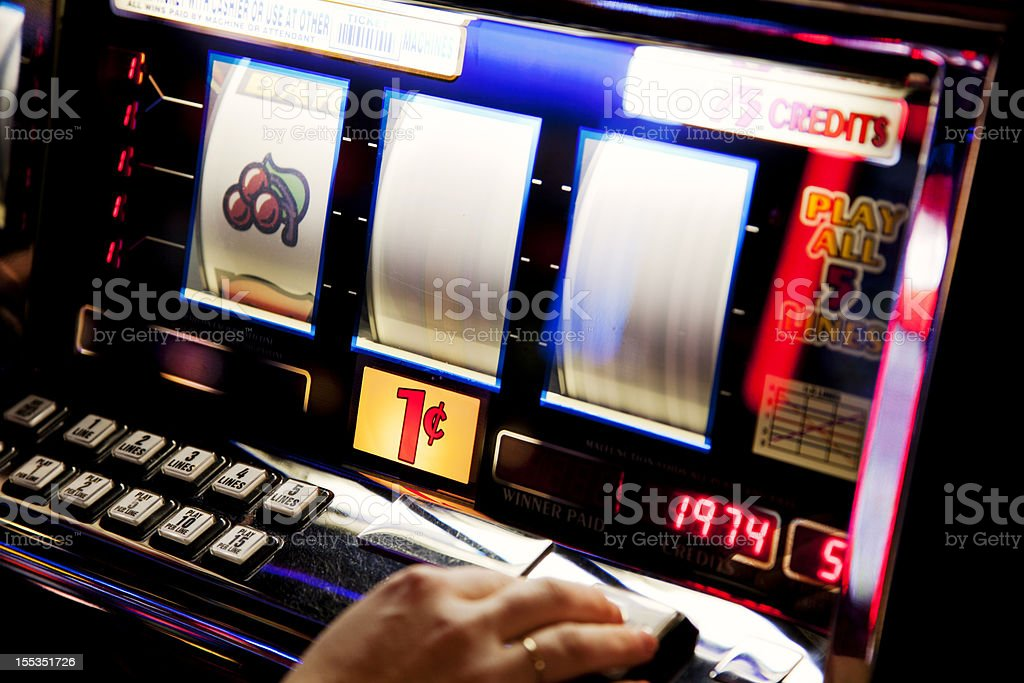 Slot machine stock photo