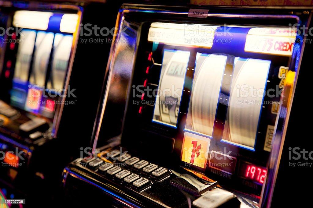 Slot machine stock photo