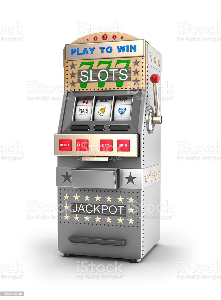 Slot machine, used in gambling. stock photo