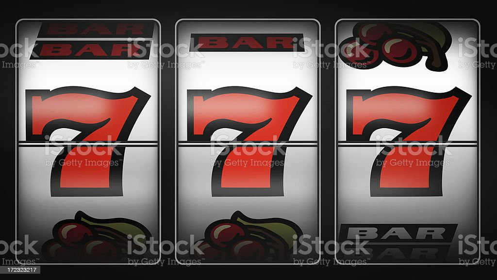 Slot Machine Winner 777 stock photo
