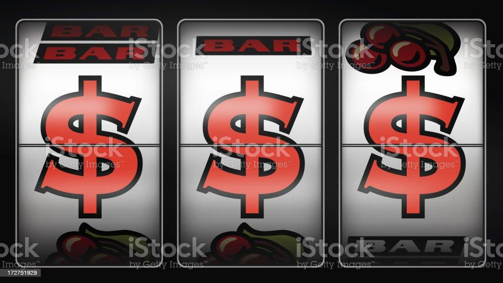 Slot Machine Winner $$$ royalty-free stock photo