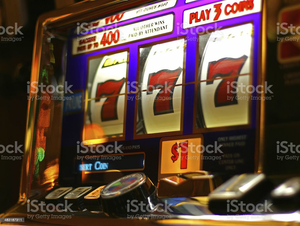 Slot Machine Winner! stock photo