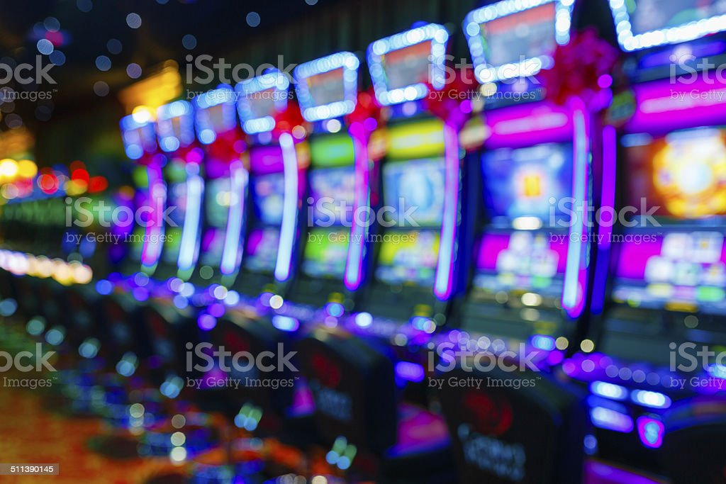 Slot machines in Casino stock photo