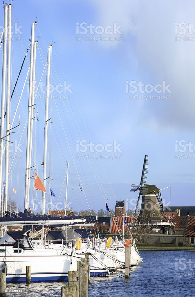 Sloten, small town in Netherlands. royalty-free stock photo