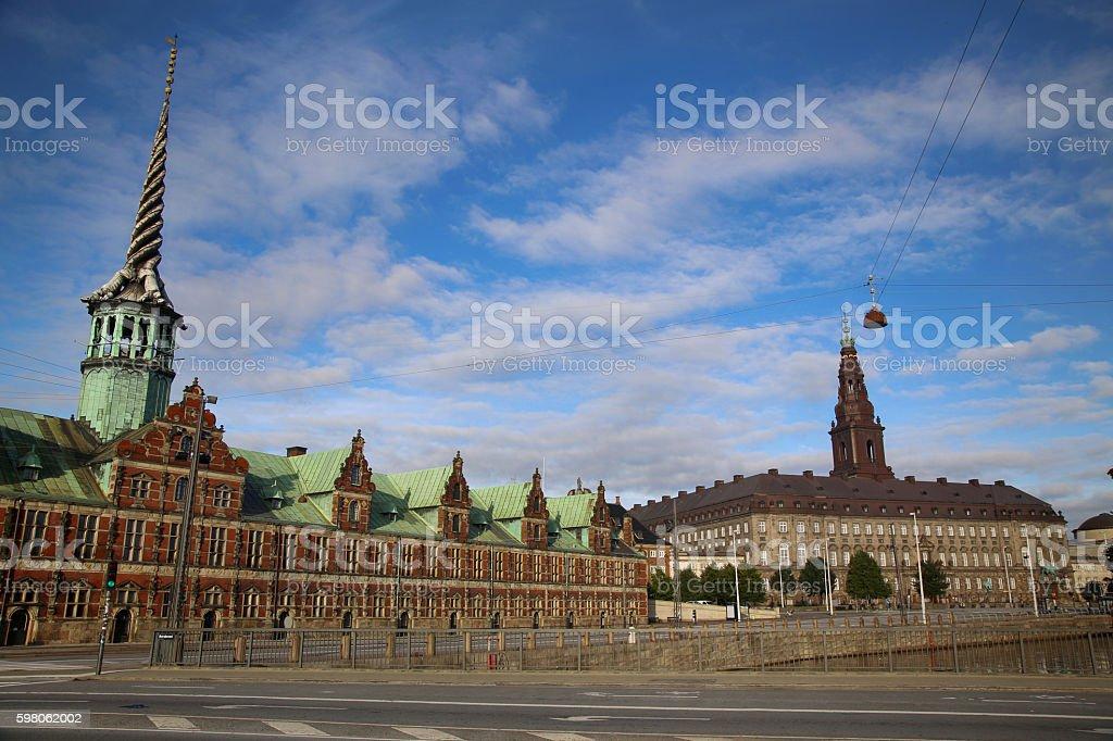 Slotsholmen, Copenhagen, Denmark stock photo