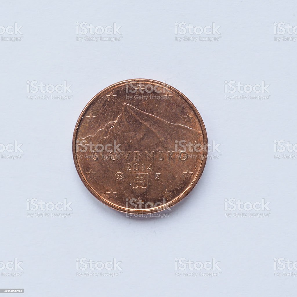 Slovak 1 cent coin stock photo