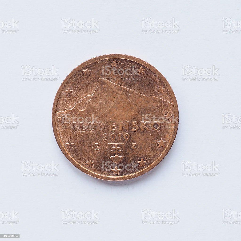 Slovak 2 cent coin stock photo