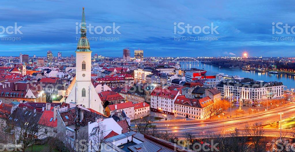 Slovakia - Bratislava at night stock photo