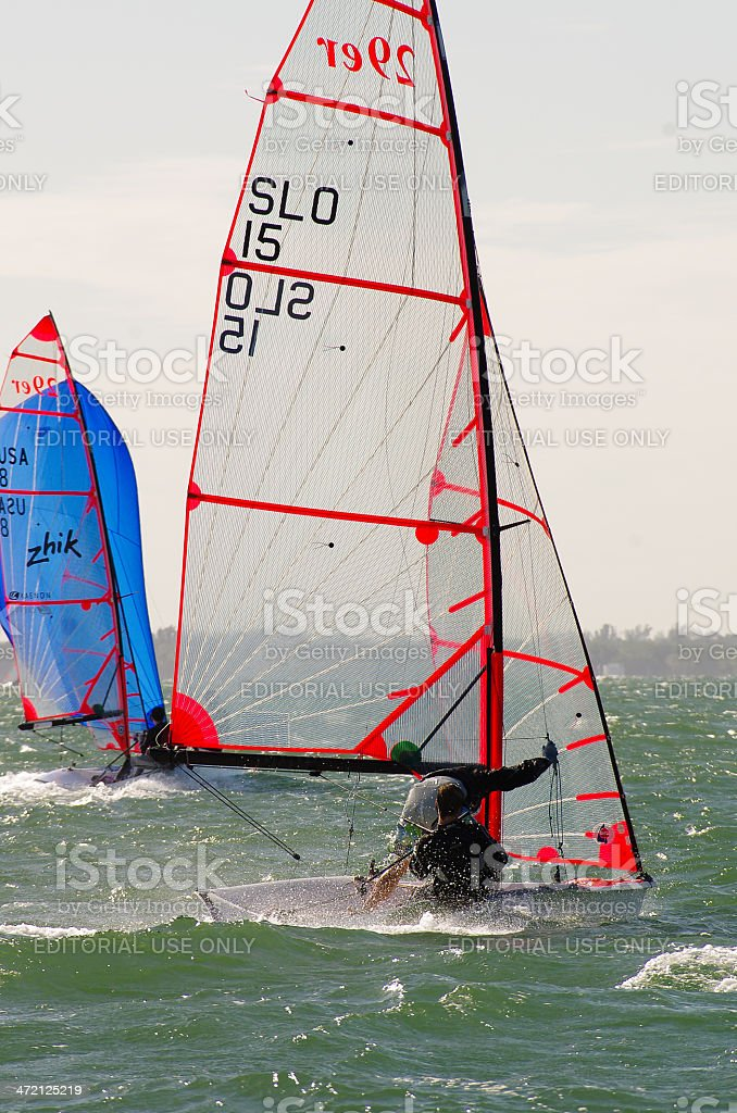 Slovakia finishes a respectable 4th at 29er Nationals stock photo