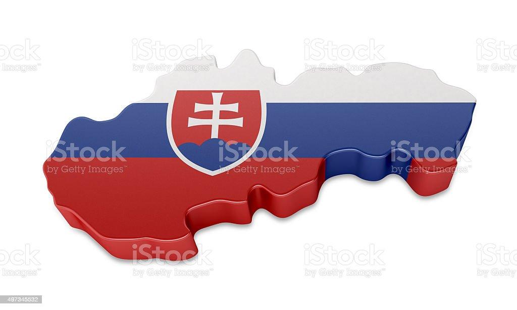 Slovakia Map stock photo