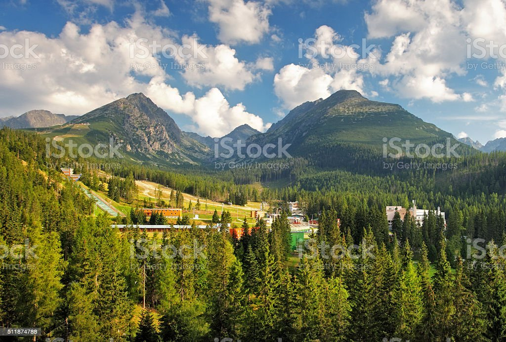 Slovakia national park, High Tatras stock photo