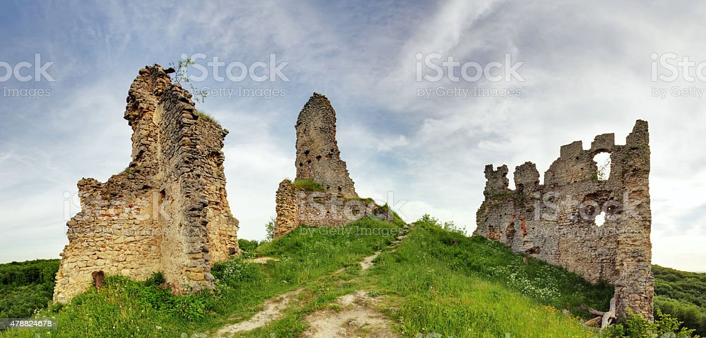 Slovakia - Ruin of castle Korlatko stock photo