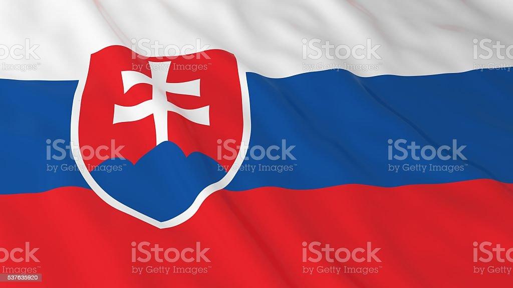 Slovakian Flag HD Background - Flag of Slovakia 3D Illustration stock photo