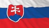Slovakian Flag HD Background - Flag of Slovakia 3D Illustration
