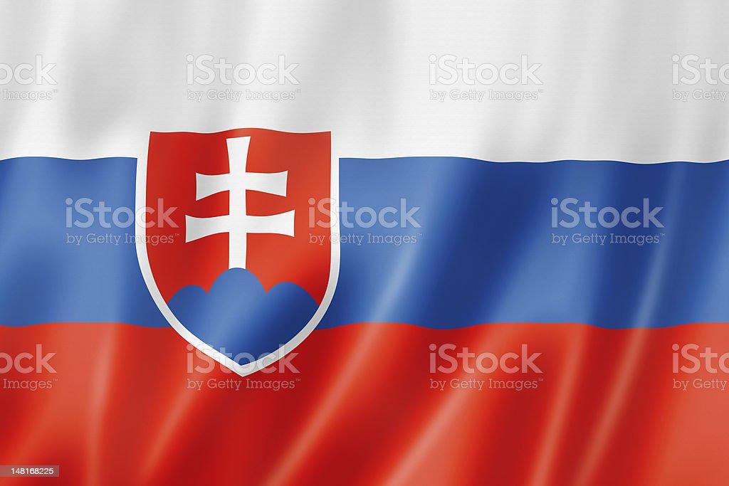 Slovakian flag stock photo