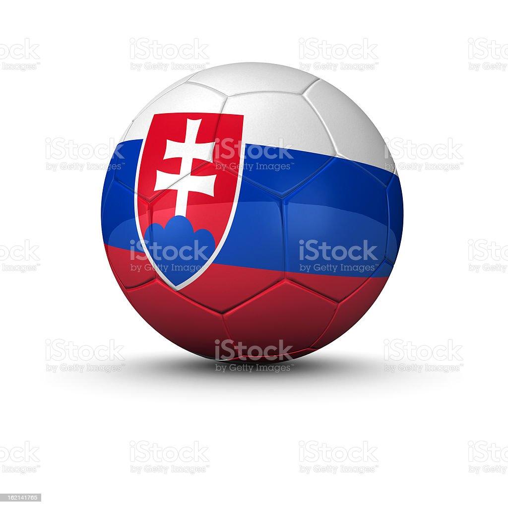 slovakian soccer ball stock photo