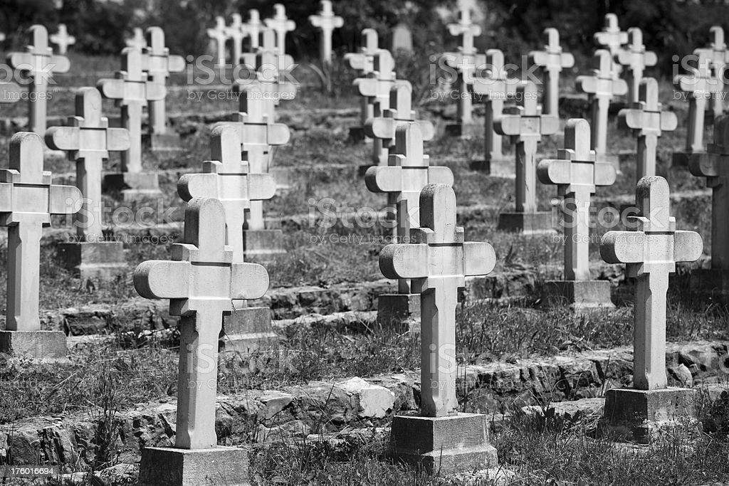Slovenia World War Grave Site from 1917 stock photo