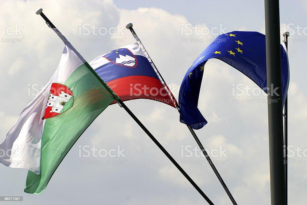 Slovenian flag royalty-free stock photo