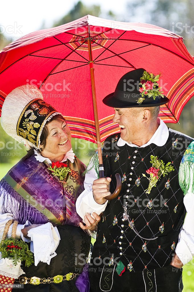 Slovenian national costume stock photo