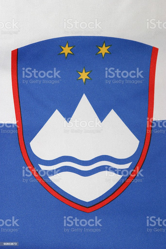 Slovenian seal from national flag royalty-free stock photo