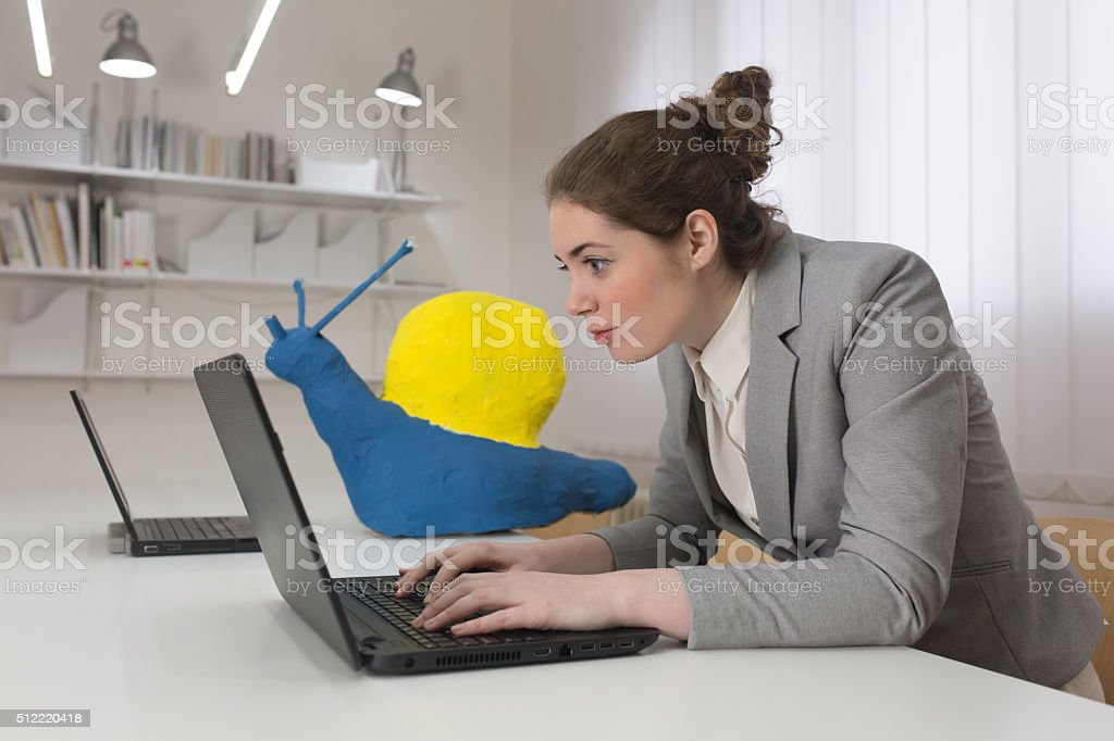 Slow At Work stock photo