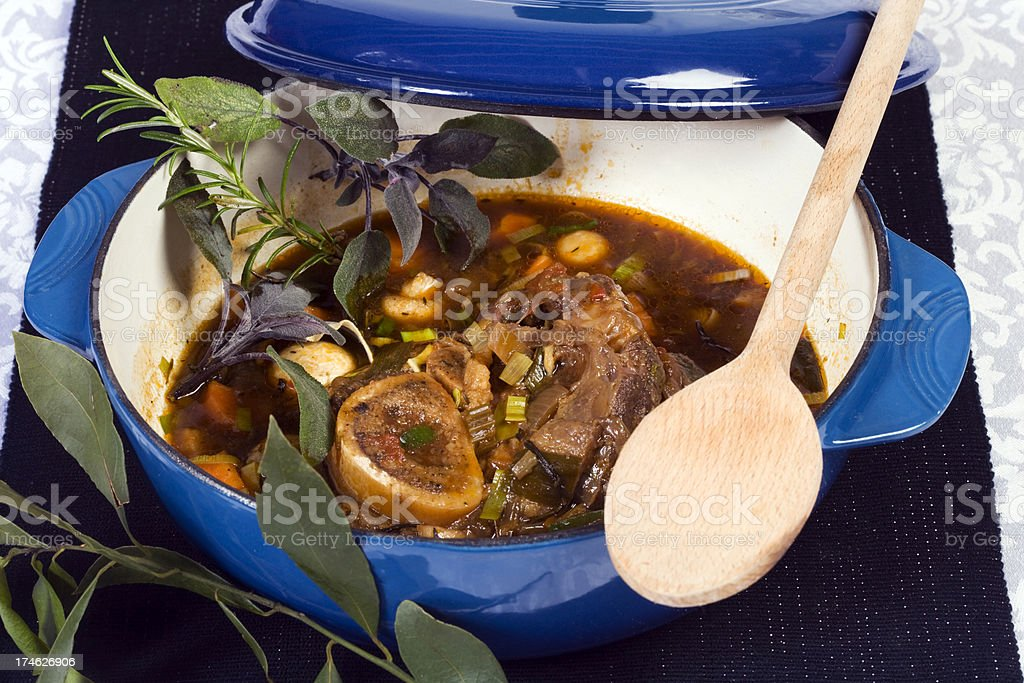 slow cooked shin of beef royalty-free stock photo