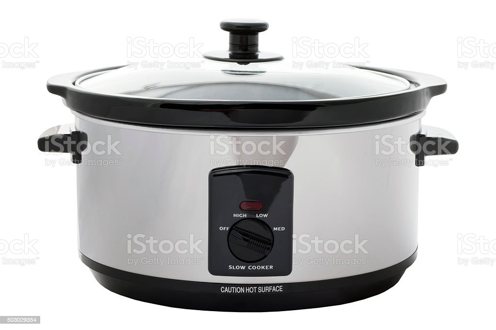 Slow Cooker Isolated stock photo