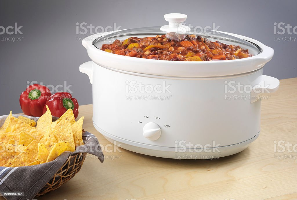 Slow Cooker stock photo