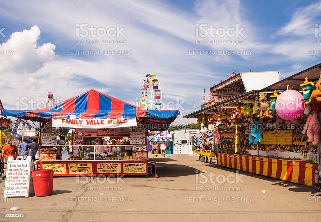 Slow Day at the Fair stock photo