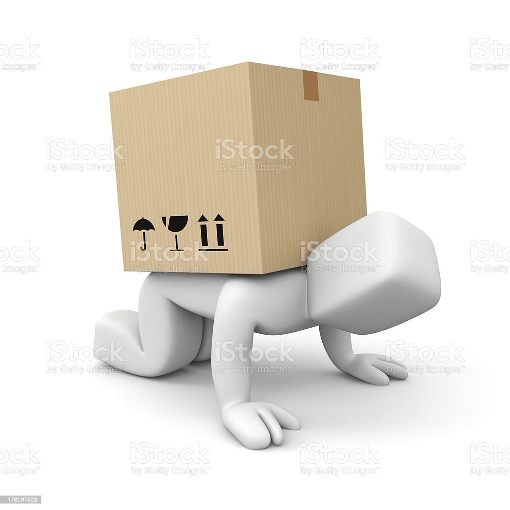 Slow delivery royalty-free stock photo