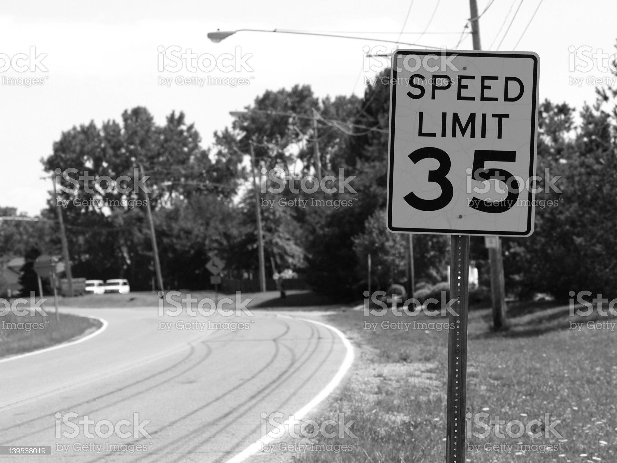 Slow Down... (B&W) royalty-free stock photo