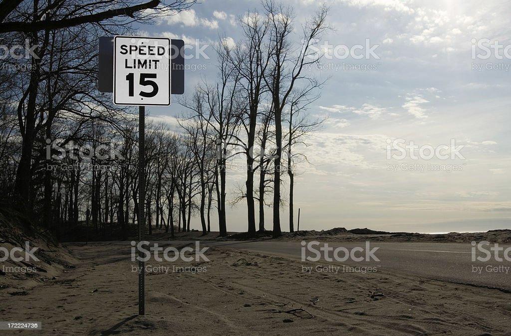Slow driving preferred stock photo