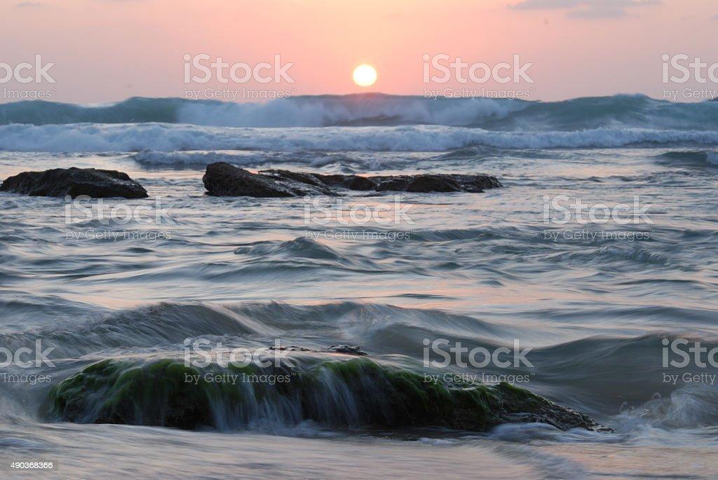 Slow exposure Sunset stock photo