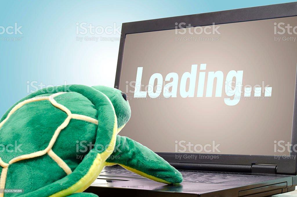 Slow internet stock photo
