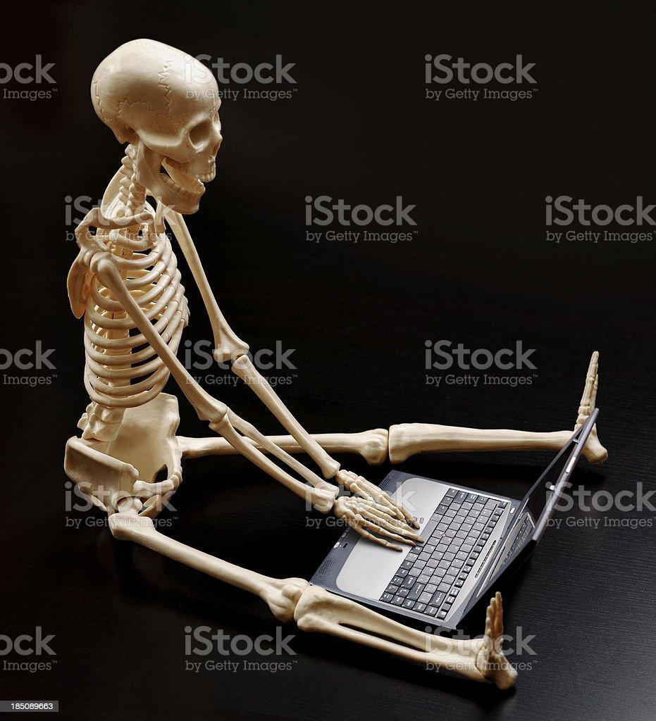 slow laptop stock photo