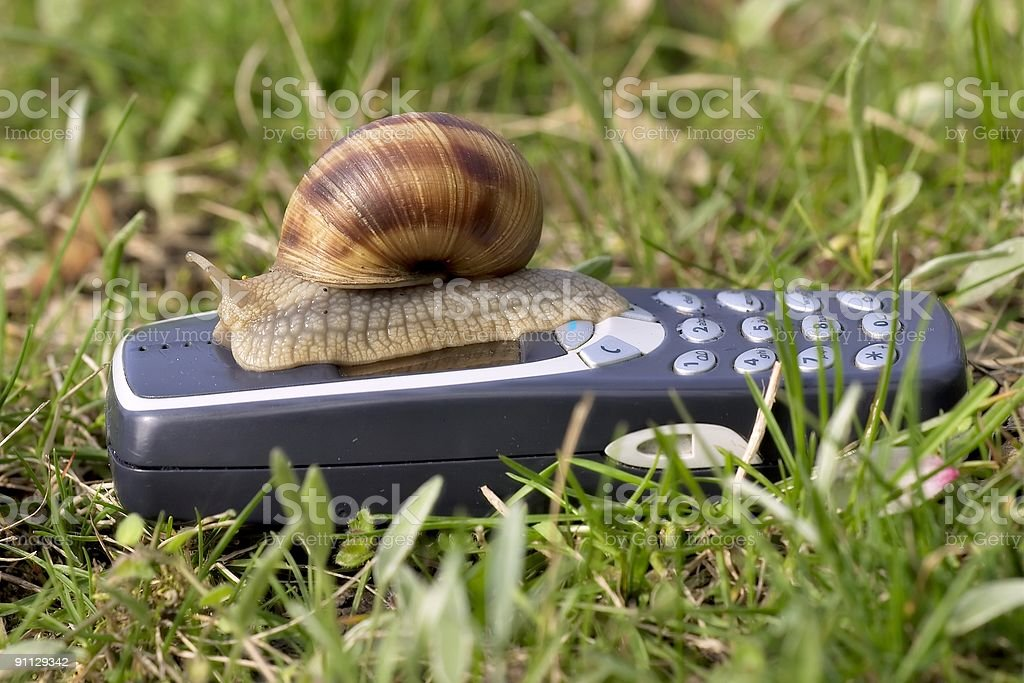 Slow mobile connection royalty-free stock photo