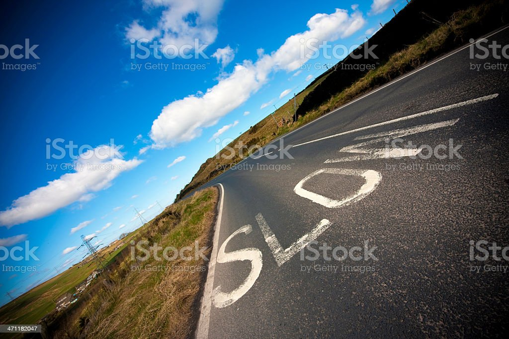 Slow Open Road Safety royalty-free stock photo